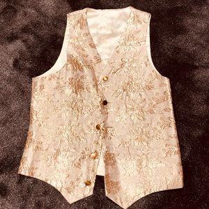 Vintage gold metallic vest